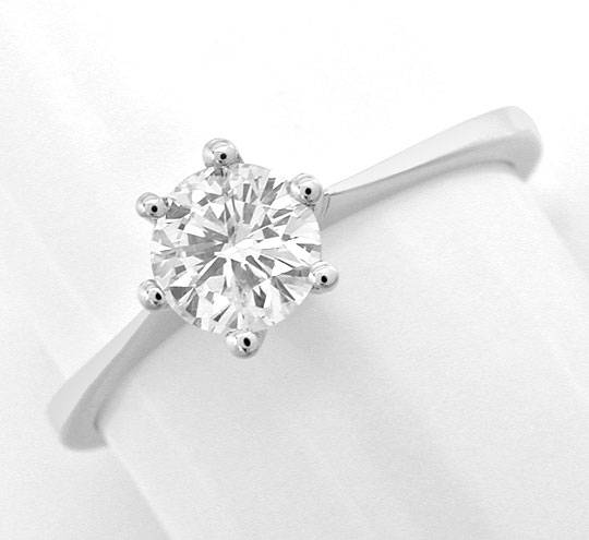 Foto 2 - Diamant Krappen Ring 0,55ct Diamant, 18K Wg Luxus! Neu!, S3872