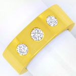 Diamantenring mit 0,77ct Brillanten 18K massiv Gelbgold