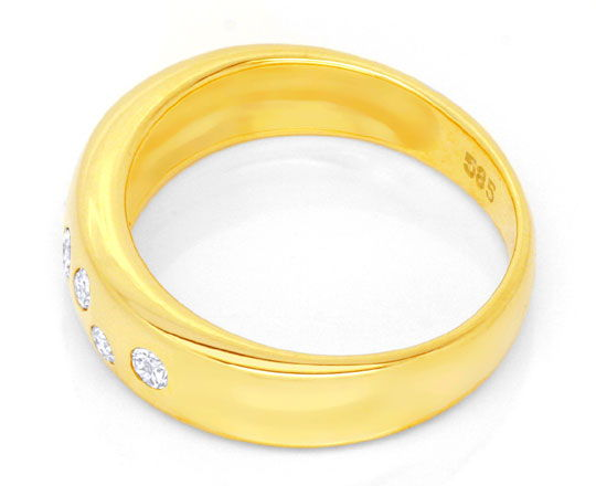 Foto 3, Gold Bandring mit 7 Diamanten, Brillanten, River Luxus!, S3887