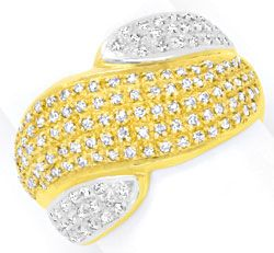 Foto 1 - Diamant Gold Ring mit 150 Diamanten Bicolor Luxus! Neu!, S3893