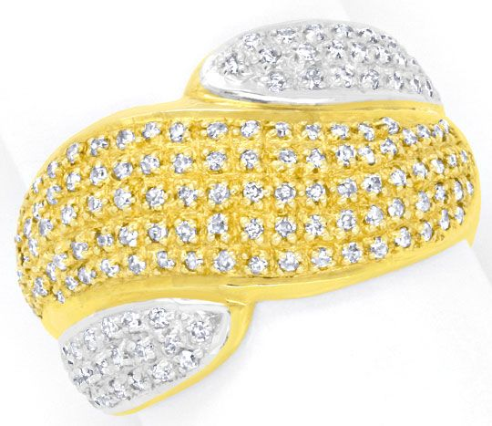 Foto 2 - Diamant Gold Ring mit 150 Diamanten Bicolor Luxus! Neu!, S3893