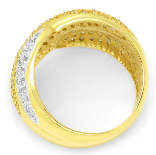 Foto 3 - Diamant Gold Ring mit 150 Diamanten Bicolor Luxus! Neu!, S3893