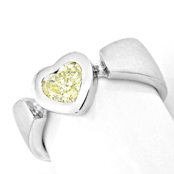 Designer Ring 0,52ct Herz Diamant HRD Yellow Luxus! Neu, Designer Ring