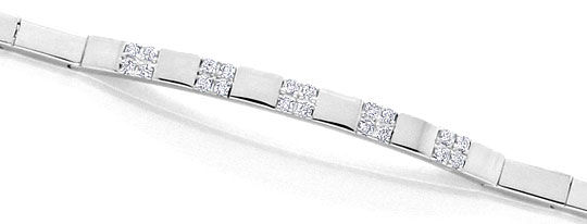 Foto 3, Top Modernes Brillant Diamant Armband, Weissgold Luxus!, S3932