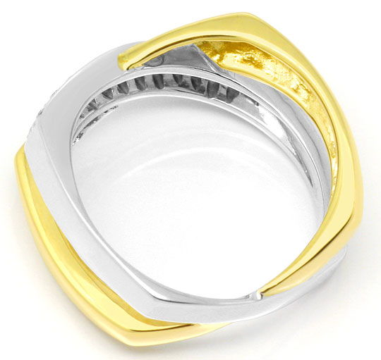 Foto 3, Brillant-Diamant-Ring Super-Design Gelb-Gold Weiss-Gold, S3936