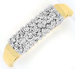 Foto 1, Brillant Diamant Ring, 27 Diamanten 0,26 Carat 14K Gold, S3956