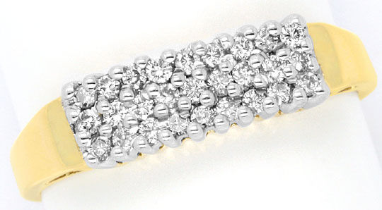 Foto 2 - Brillant Diamant Ring, 27 Diamanten 0,26 Carat 14K Gold, S3956