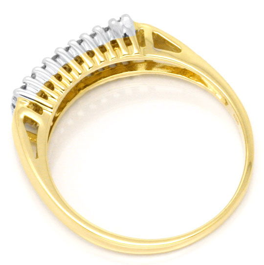 Foto 3, Brillant Diamant Ring, 27 Diamanten 0,26 Carat 14K Gold, S3956