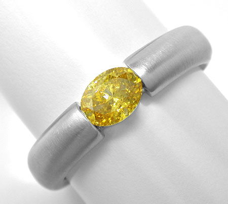 Foto 2, Spann Ring 0,56 Diamant Intensiver Fancy Orangy Goldton, S3958
