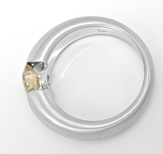 Foto 3, 1,04ct Natural Light Yellowish Brown, Spann-Ring Luxus!, S3978