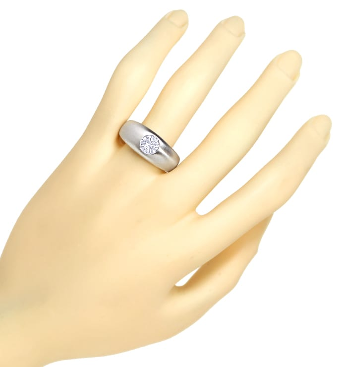 Foto 4 - Brillantbandring 1,07ct River E Lupenrein 18K Weissgold, S4005