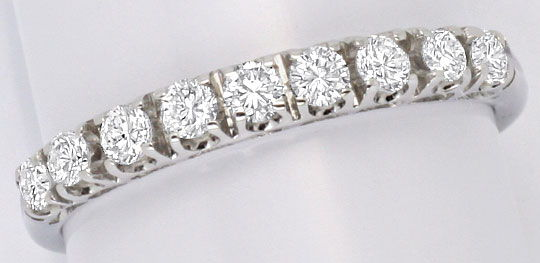 Foto 2 - Halbmemory Brillanten Ring 9 Brillianten 18K Weiss Gold, S4101