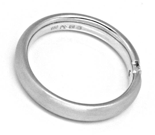 Foto 3, Diamant Spann Ring, 950 Platin, River VS1, Luxus!, Neu!, S4109