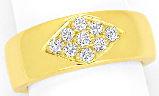 Foto 2, Diamant Ring 0,31ct Brillanten River Lupenrein Gelbgold, S4122