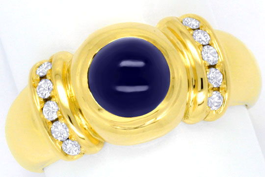 Foto 2 - Moderner Brillantring 2,4ct Safir 10Diamanten River 18K, S4126