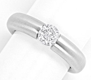 Foto 1 - Brillant Spann Ring 0.72ct Diamant Weissgold Luxus! Neu, S4129