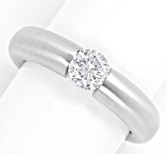 Foto 2 - Brillant Spann Ring 0.72ct Diamant Weissgold Luxus! Neu, S4129