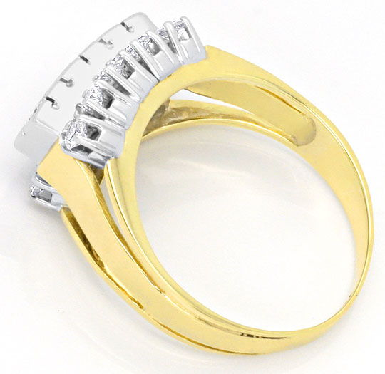 Foto 3, Goldring 0,62 Carat Diamanten und Brillianten, 14K Gold, S4137