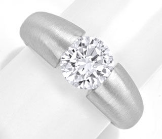 Foto 1, Diamant-Spann-Ring 1,89ct Brillant G Si, 18K-Wg Schmuck, S4141
