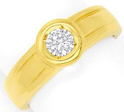 Foto 1, Diamant-Ring 0,31ct Brillant Top Wesselton Solitaer 14K, S4150