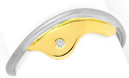 Foto 2 - Platin Gelb Gold Brillant Ring Gelb Gold Brillant Wolke, S4154