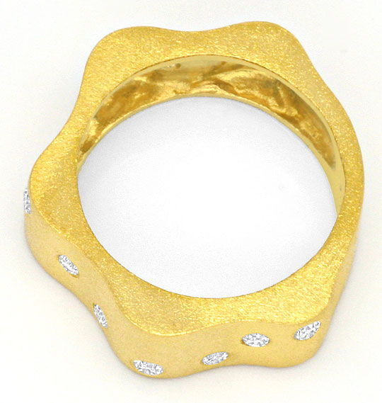 Foto 3 - Designer Brillanten Ring 18K Gelb Gold, Wellen Goldring, S4162