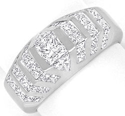 Foto 1 - Princess Triangel Diamanten Ring 3,09ct River Weissgold, S4176
