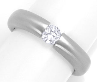 Foto 1, Brillant Diamant Spann Ring 0,30ct River 18K Luxus! Neu, S4198