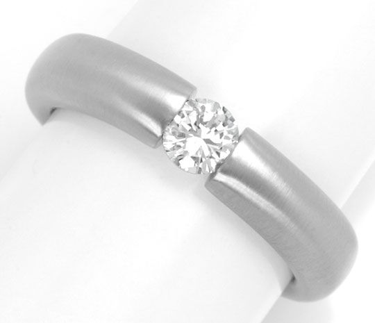 Foto 2, Brillant Diamant Spann Ring 0,30ct River 18K Luxus! Neu, S4198