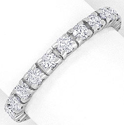 Foto 1, Brillant Diamant Ring Vollmemory Ring 1,16 ct Weissgold, S4213