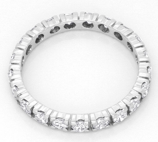 Foto 3, Brillant-Diamant-Ring Vollmemory-Ring 1,16 ct Weissgold, S4213