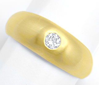 Foto 1, Brillant Band Ring, massiv Gelbgold 0,23ct River Luxus!, S4246