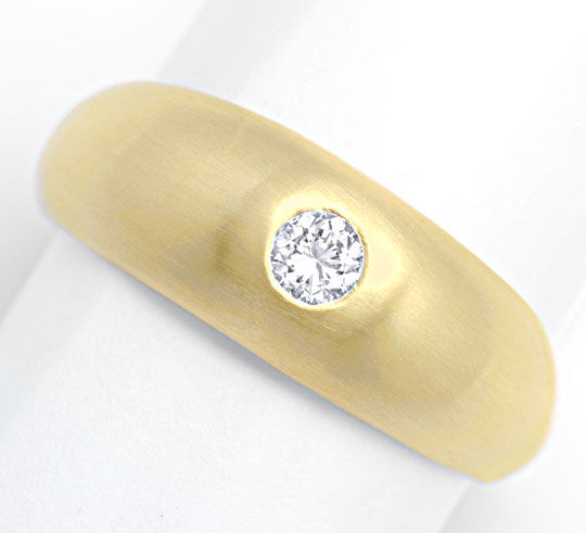Foto 2, Brillant Band Ring, massiv Gelbgold 0,23ct River Luxus!, S4246