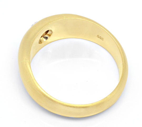 Foto 3 - Brillant Band Ring, massiv Gelbgold 0,23ct River Luxus!, S4246