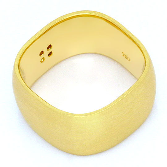 Foto 3 - Breiter super massiver Brilliant Diamant Ring Gelb Gold, S4247
