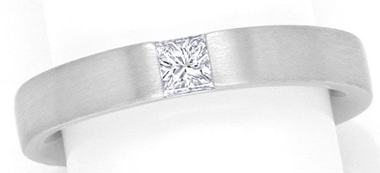 Foto 2, Diamant Ring Weiss Gold 0,19ct Princess River Lupenrein, S4248