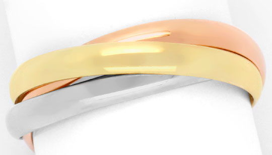 Foto 2 - Original Cartier Trinity Ring 18K Tricolor, Gr.51, Shop, S4258