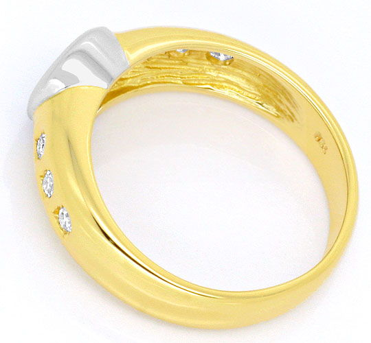Foto 3 - Brillant Diamanten Ring 0,30ct River Lupenrein Gelbgold, S4259