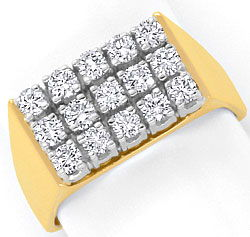 Foto 1 - Brillanten Diamanten Ring 0,64ct 18K Gelbgold Weissgold, S4292