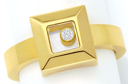 Foto 2, Original Chopard Happy Diamonds Ring Brillant Beweglich, S4321