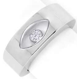 Foto 1, Original Chopard Happy Diamonds Brillant Ring Weissgold, S4322