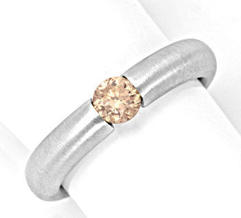 Foto 1, Diamant Spannring 0,45ct Brillant Goldbraun Luxus! Neu!, S4329