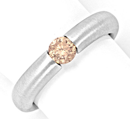 Foto 2, Diamant Spannring 0,45ct Brillant Goldbraun Luxus! Neu!, S4329