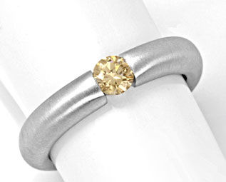 Foto 1, Spann Ring, 0,3ct Diamant Goldbraun Top Brillanz Luxus!, S4331