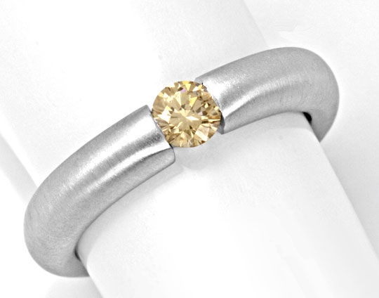Foto 2, Spann Ring, 0,3ct Diamant Goldbraun Top Brillanz Luxus!, S4331