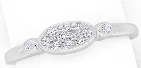 Foto 2, Brillant-Diamantring 0,11 Carat Brillanten in Weissgold, S4347