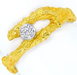 Foto 1 - Brillant Rohgold Ring River D Lupenrein Platin 18K Gold, S4460