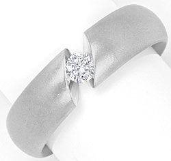Foto 1, Niessing Narciss Platin Brilliant Spann Ring 0,15 Carat, S4477