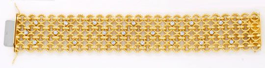 Foto 1, Handarbeits-Brillantarmband 106G 18K Gold 1.8ct Schmuck, S4495