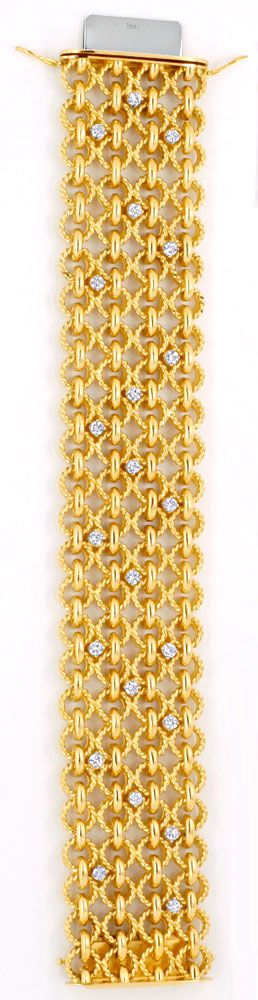 Foto 2, Handarbeits-Brillantarmband 106G 18K Gold 1.8ct Schmuck, S4495